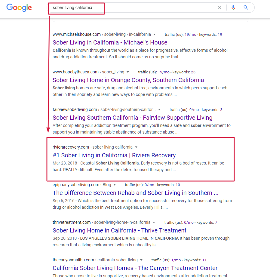 natalia golenkova first page of serp results in 5 months